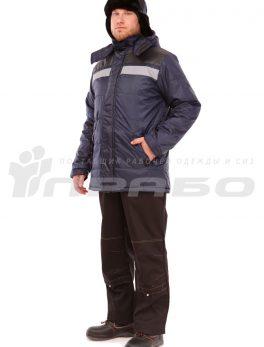 Куртка рабочая утепленная «Эльбрус» мужская т.синий/серый