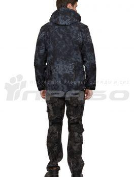 Тактическая куртка софтшелл КМФ Питон Ночь