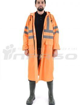 Плащ влагозащитный «Тайфун» оранжевый с СОП