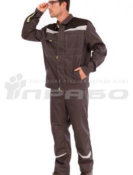 Костюм мужской «Профессионал 1» серыйчерный