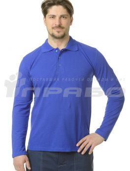 Рубашка «Поло» длинный рукав василек