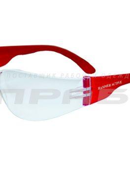 Очки защитные открытого типа О15 HAMMER ACTIV незапотевающие прозрачные РОСОМЗ арт.11530