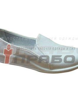 Туфли арт. 55 женские белые ПВХ подошва