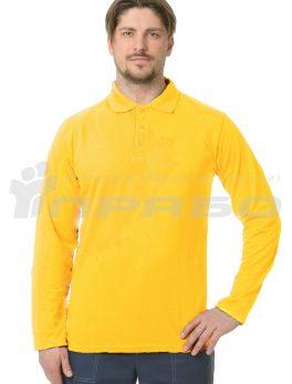 Рубашка «Поло» длинный рукав жёлтый