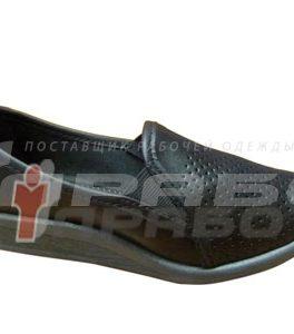 Туфли арт. 02 женские перфорация черные ПВХ подошва
