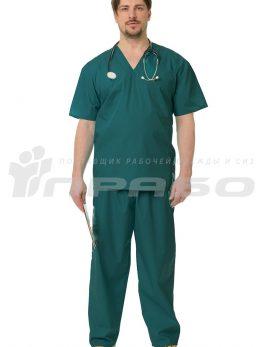 Костюм медицинский хирурга зелёный