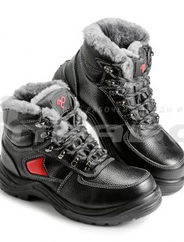 Ботинки рабочие утепленные кожаные «Викинг НИТРО-22РНМ» с натуральным мехом