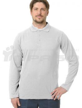 Рубашка «Поло» длинный рукав белый