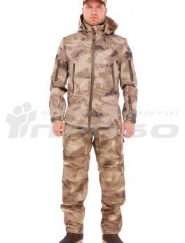 Тактическая куртка софтшелл КМФ Песок