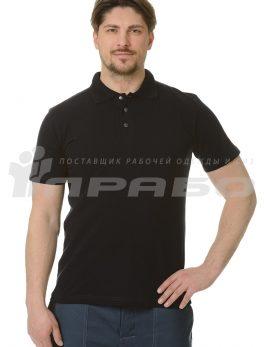 """Рубашка """"Поло"""" чёрная"""