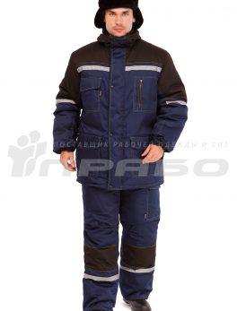 Костюм рабочий утепленный «Азимут» синий