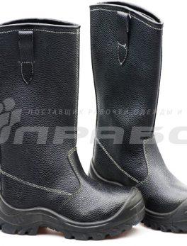 """Сапоги рабочие кожаные """"Олимп-16"""" ПУ подошва с МП"""