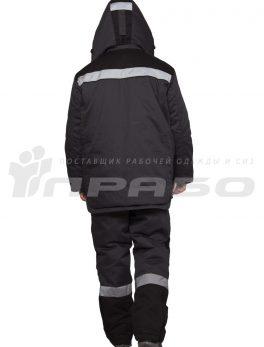 Костюм утепленный мужской «Профессионал2» серый/черный