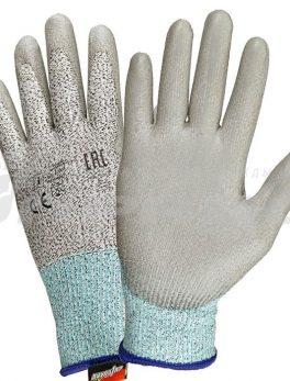 Перчатки противопорезные с ПУ покрытием арт. 220