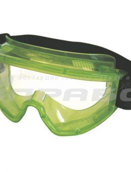 Очки защитные закрытые с прямой вентиляцией 3П2 ПАНОРАМА РОСОМЗ арт.30211
