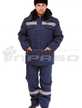 Костюм рабочий утепленный «Мастерок 2» синий