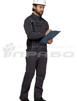 Куртка мужская «Люкс» серый-черный