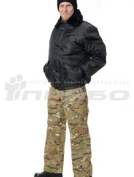 Куртка утепленная «Альфа» черная