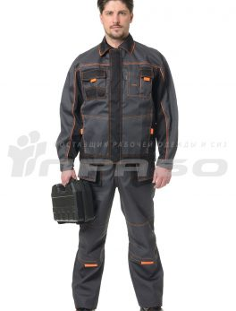 Костюм рабочий «Бренд 2» т.серый/черный