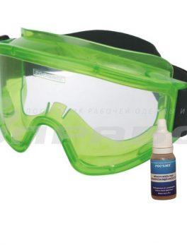 Очки защитные закрытые с непрямой вентиляцией ЗНГ1 PANORAMA (PL) РОСОМЗ арт. 22111 с жидкостью от запотевания