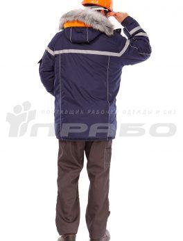 Куртка утепленная «Аляска» мужская темно-синий