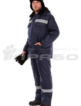 Костюм рабочий утепленный «Мастер 2» темно-синий