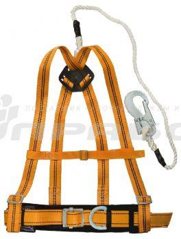 Пояс предохранительный ПП 2 ВД с наплечными лямками (УПС2Д + строп В)