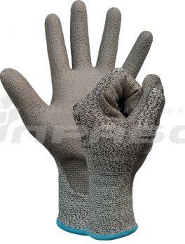 Перчатки противопорезные с ПУ покрытием арт. 210
