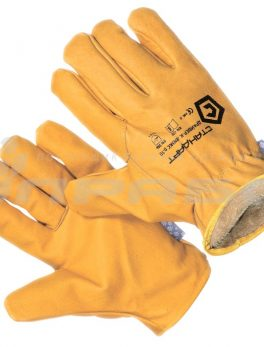 Перчатки кожаные «Драйвер- ЛЮКС» утепленные