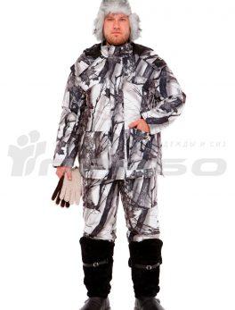 Костюм мужской утепленный «Универсал» КМФ зимний лес