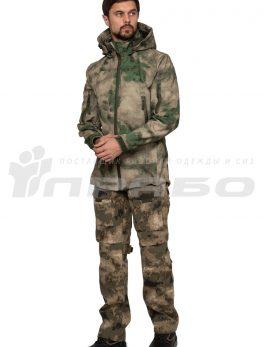 Тактическая куртка софтшелл КМФ Мох