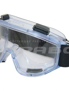 Очки защитные закрытые с прямой вентиляцией ЗП2 PANORAMA super (PC) РОСОМЗ арт.30130