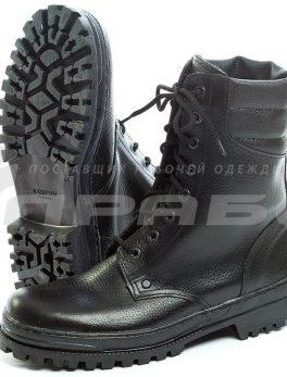Ботинки рабочие кожаные хромовые «Омон»